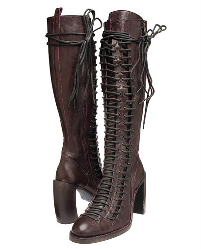 chagne tastes demeulemeester lace boots