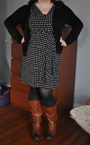 Cardi: Joe; Dress & tank: Target; Boots & tights: as above