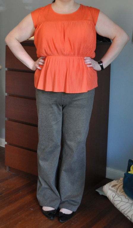 Top: Target; Pants; NY&Co; Flats: Me Too; Watch: Kenneth Cole (gifted)