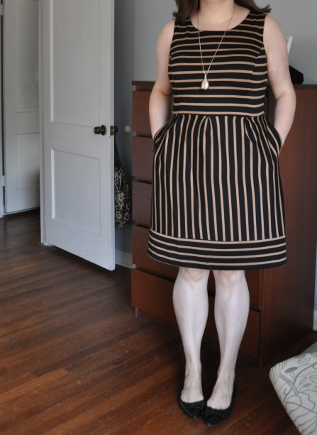 Dress: Target; Beloved Tear-shaped Pendant: H&M; Black flats: Me Too